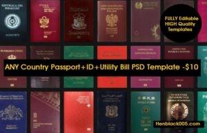 passport psd templates
